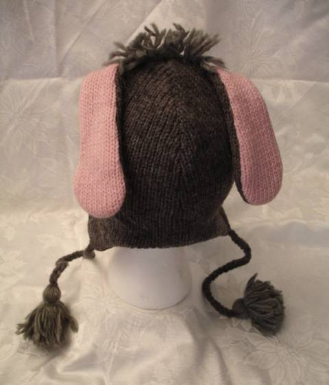 Knitting Pattern For Donkey Hat : DONKEY HAT knit ADULT mule burro eeyore costume FL LINED ...